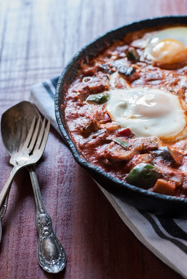 Meal Ideas and Grocery List with Cookie Named Desire- shakshuka