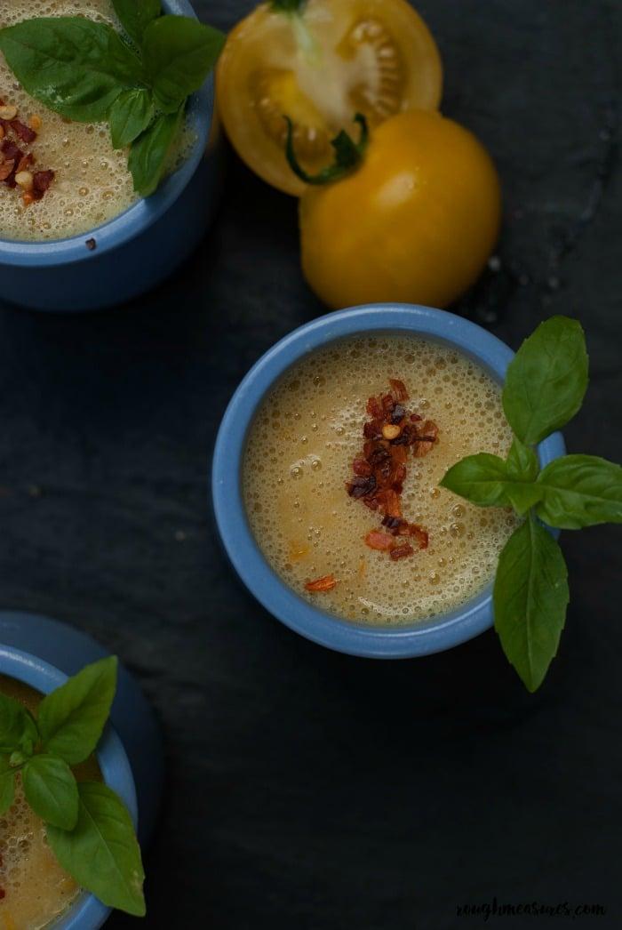 Easy Vegan Recipes Meal Plan Yellow Tomato Bean Gaspacho