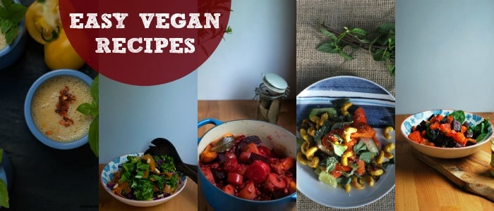 Easy Vegan Recipes - Rough Measures Meal Plan