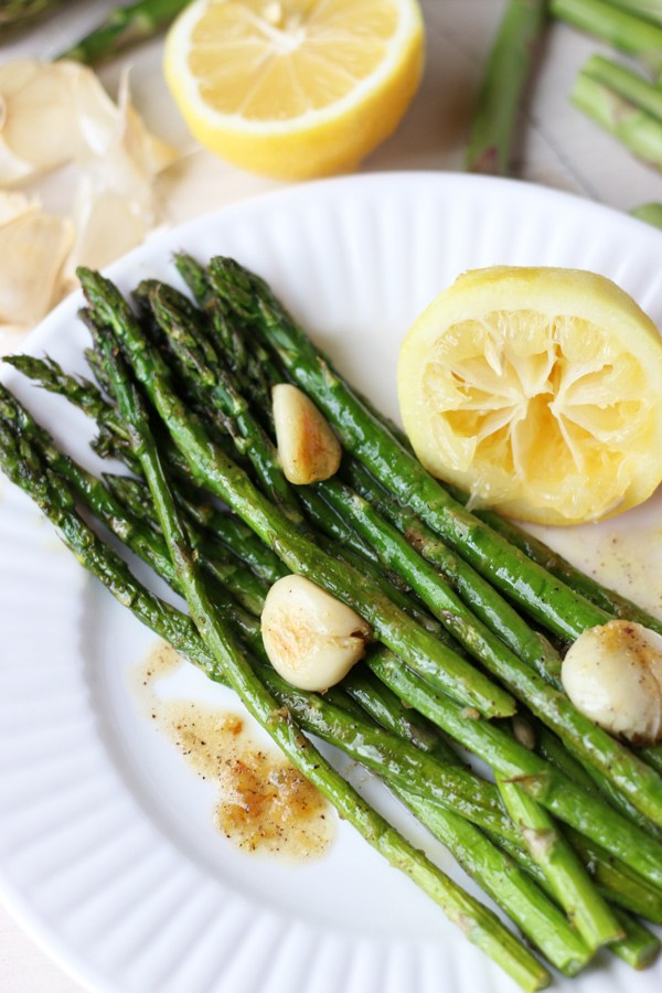 Simple Country Recipes from Longbourn Farm oven roasted asparagus lemon garlic