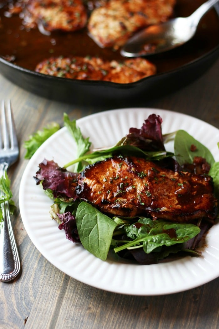 Simple Country Recipes from Longbourn Farm pan seared pork chops