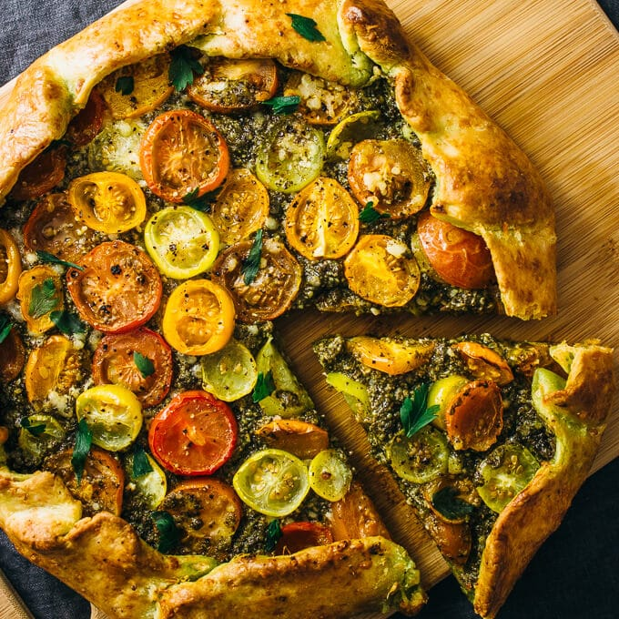 Simple Vegetarian Meals by Savory Tooth savory heirloom galette pesto