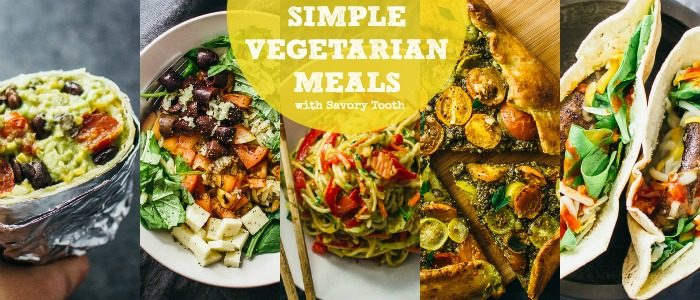 Simple Vegetarian Meals by Savory Tooth