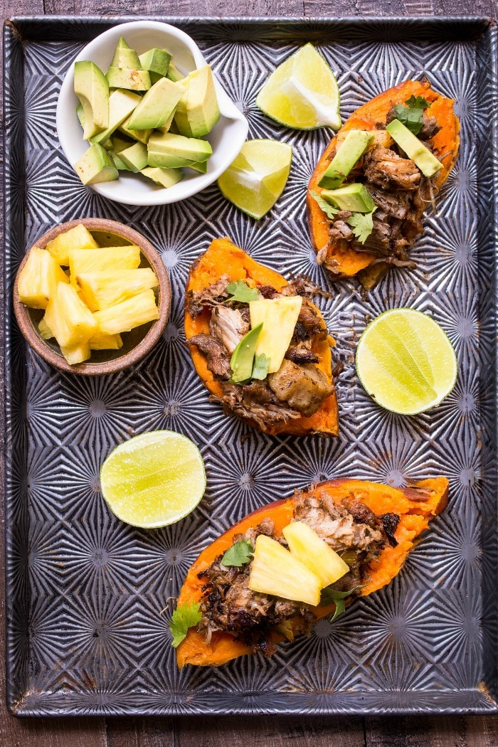 Top 10 Instant Pot Pressure Cooker Recipes- Al Pastor Stuffed Sweet Potatoes
