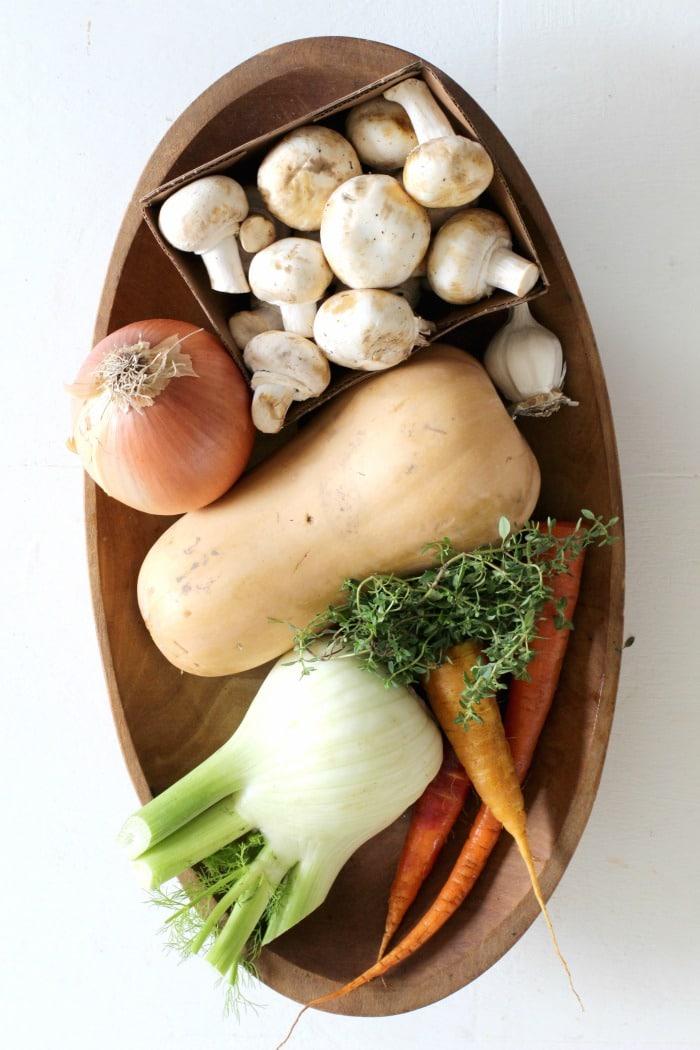 Vegetarian Ragu Pasta Recipe from Feast Cookbook- ingredients