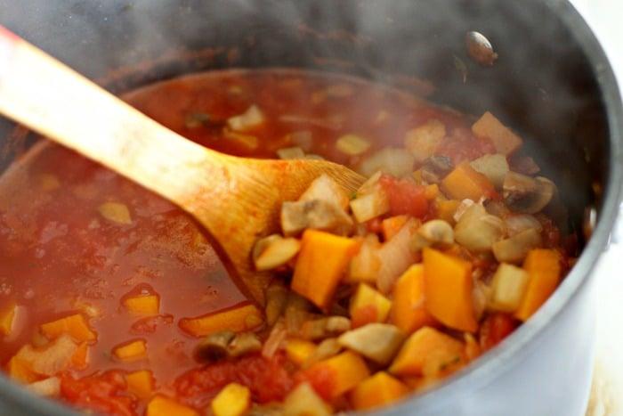 Vegetarian Ragu Pasta Recipe from Feast Cookbook- sauce
