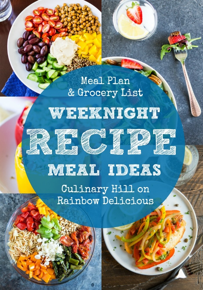 Weeknight Recipe Meal Ideas with Culinary Hill