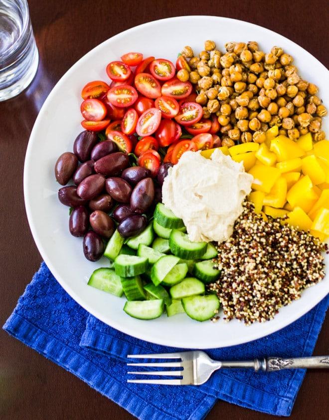 weeknight recipe meal ideas- Mediterranean Vegan Bowl Culinary Hill