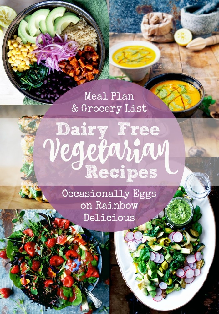Dairy Free Vegetarian Recipes from Occasionally Eggs on Rainbow Delicious