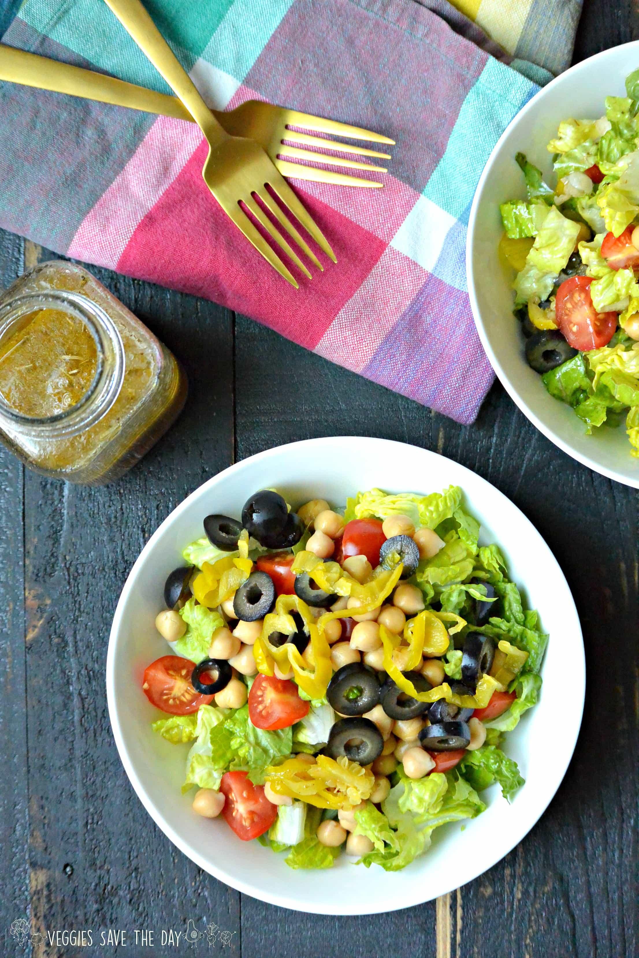Gluten-Free Vegan Recipes Italian chopped salad