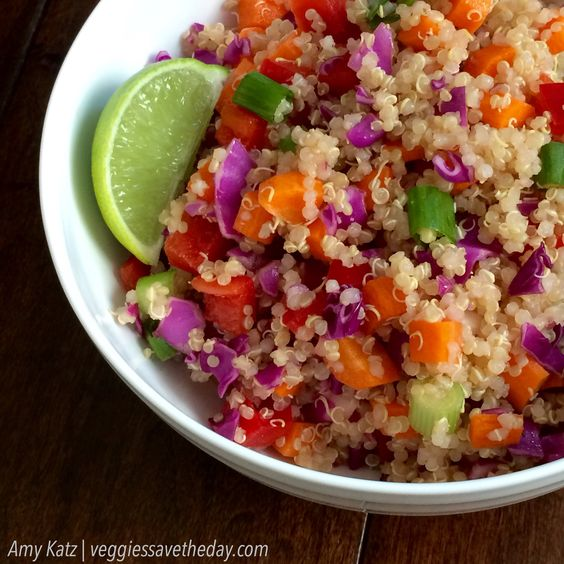 Gluten Free Vegan Recipes Rainbow Quinoa Veggie Salad Recipe