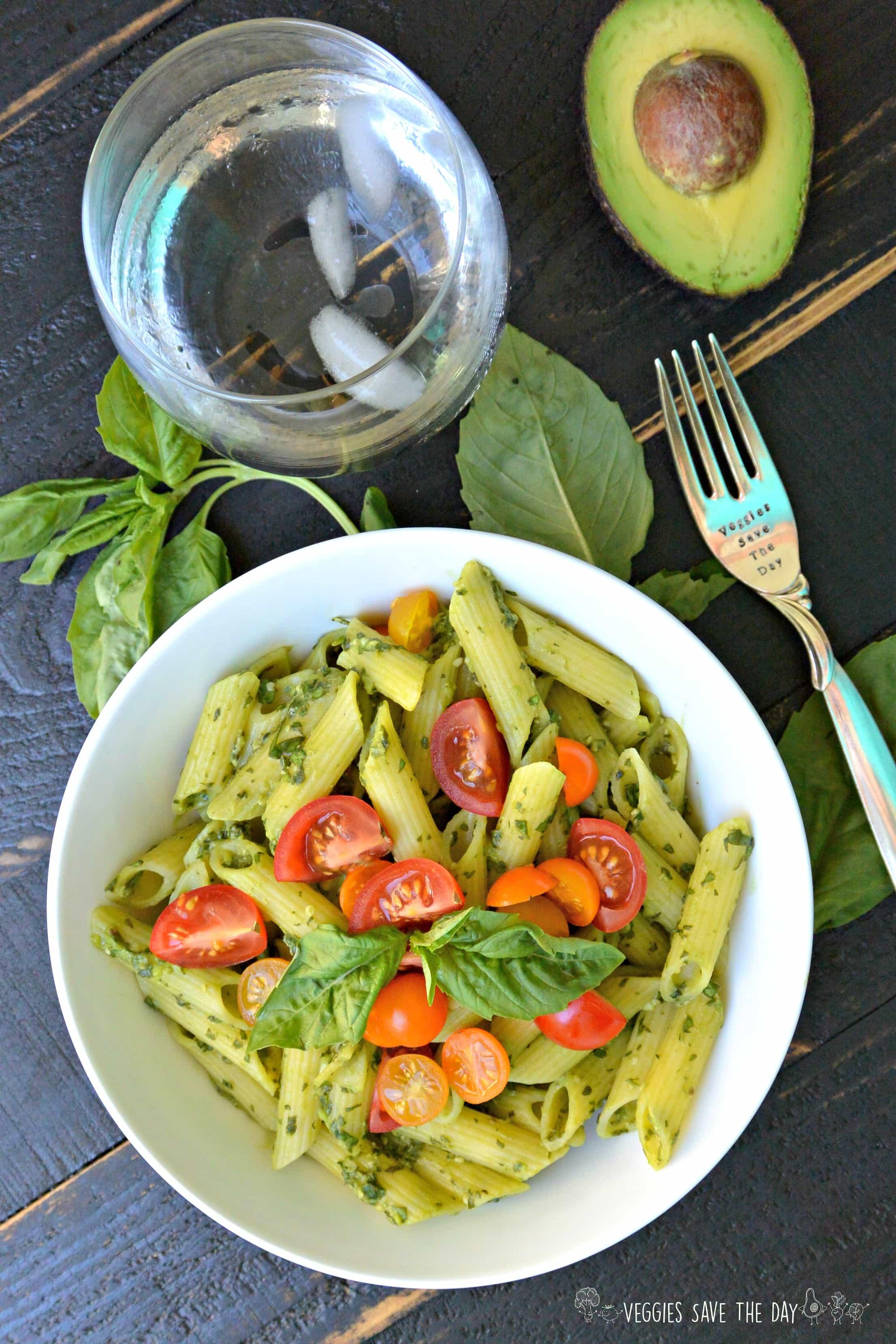 Gluten-Free Vegan Recipes- avocado basil peso pasta