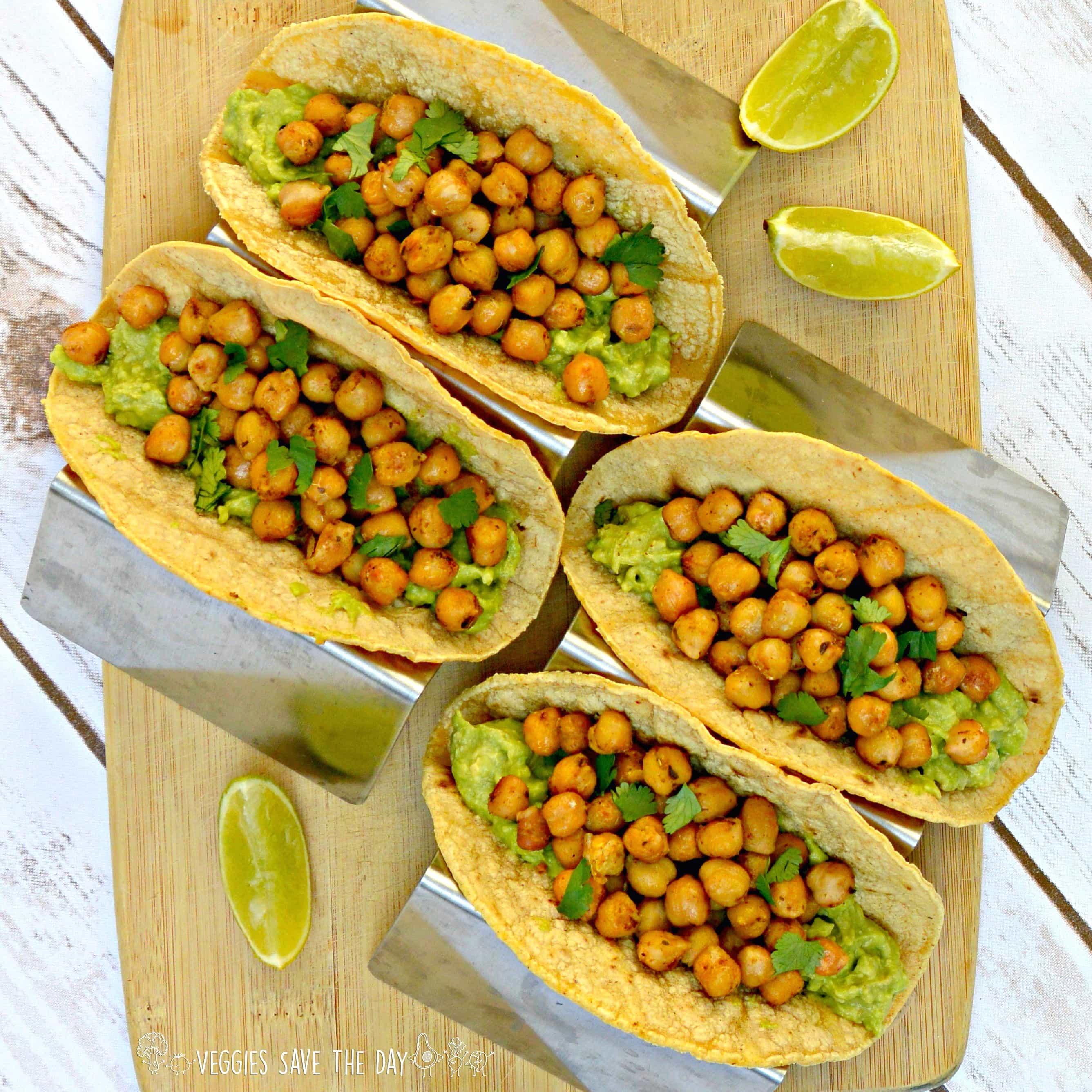 Gluten-Free Vegan Recipes chickpea and guacamole tacos
