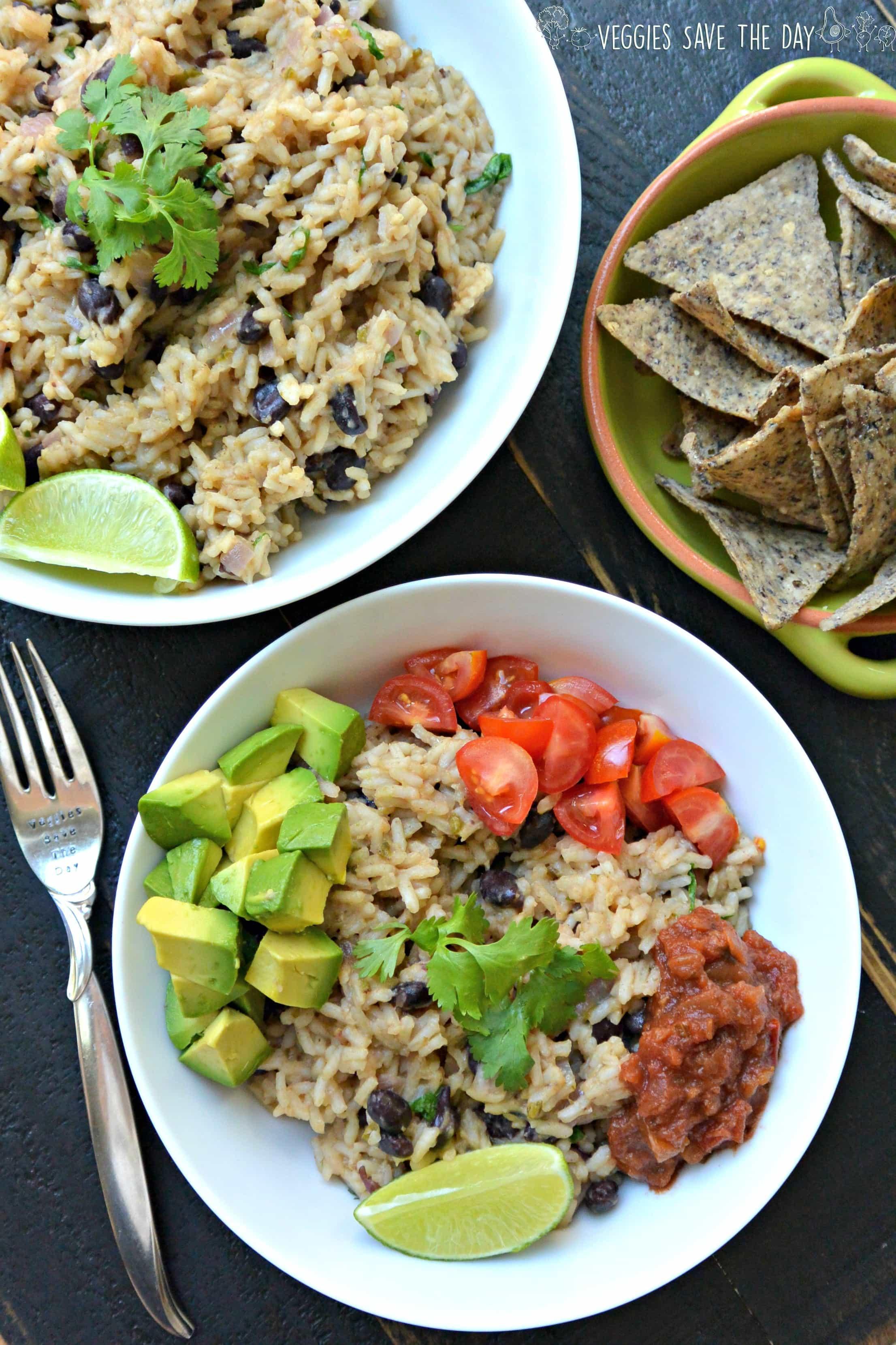 Gluten-Free Vegan Recipes -cilantro lime rice and black beans