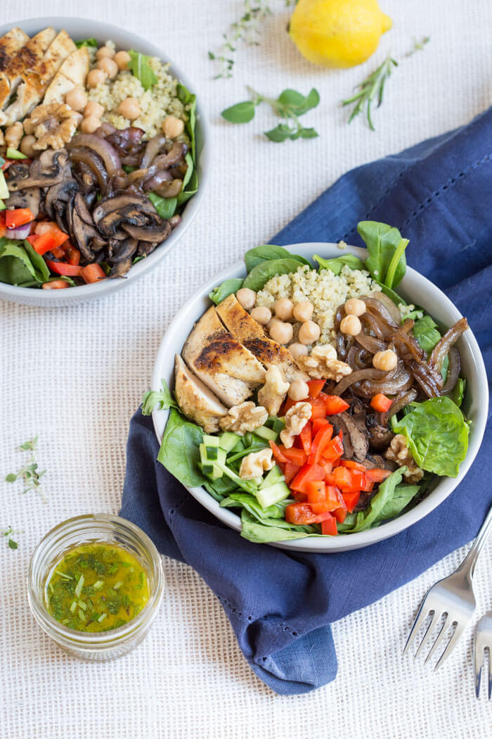 Healthy Meal Ideas from Love and Zest Meditteranean Quinoa Salad