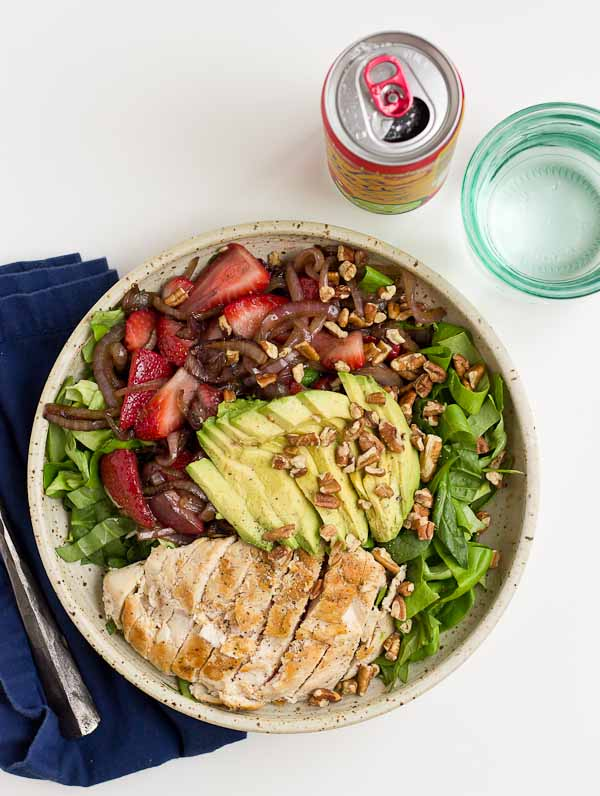 Healthy Meal Ideas from Love and Zest strawberry balsamic chicken salad
