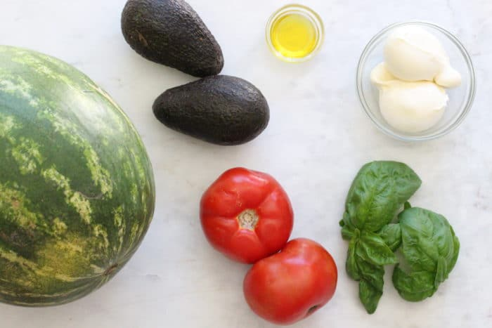 Ingredients Watermelon Avocado Burrata Caprese Salad Recipe