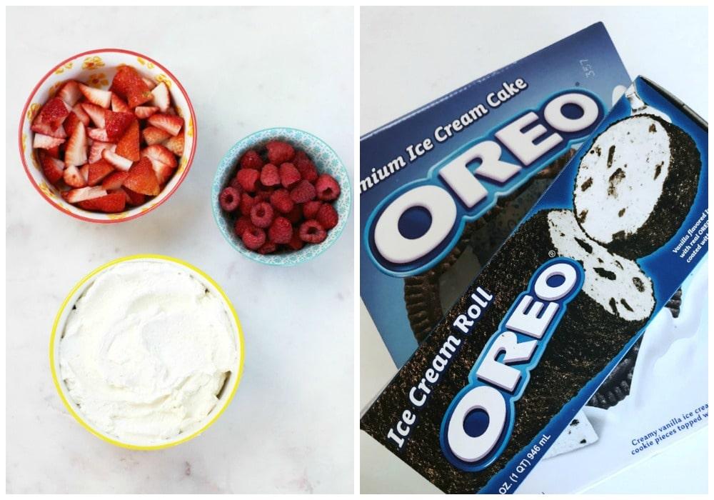Berry OREO® Ice Cream Cake Recipe Ingredients for cake