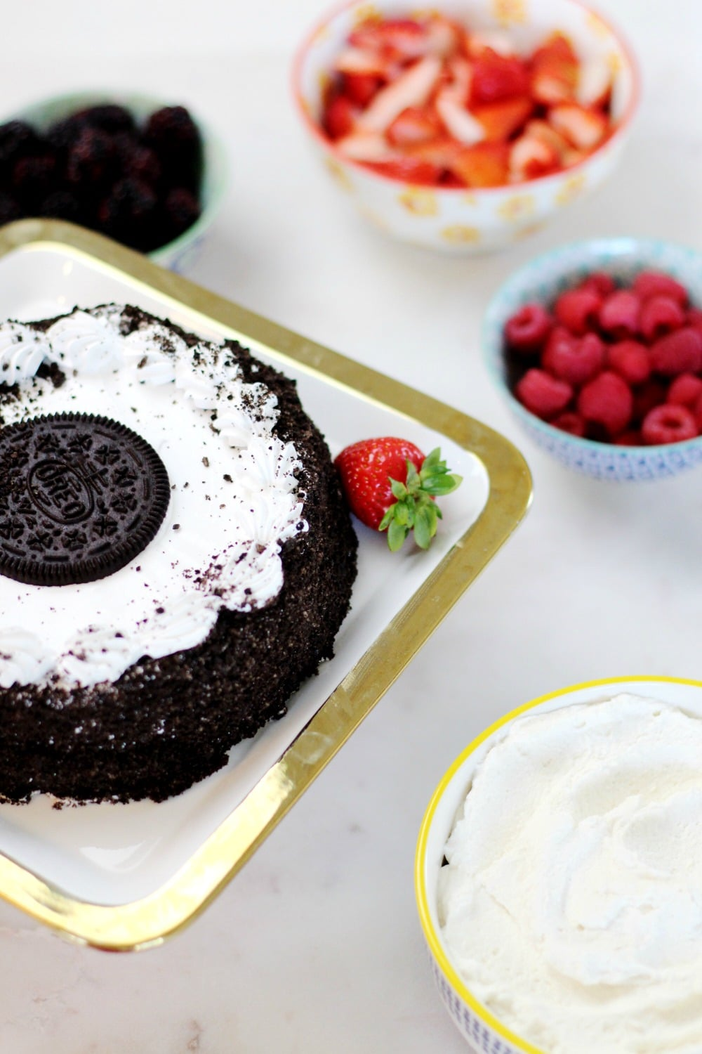 Berry OREO® Ice Cream Cake Recipe Rainbow Delicious