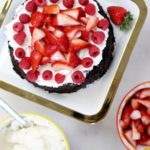 Berry OREO® Ice Cream Cake Recipe with raspberries