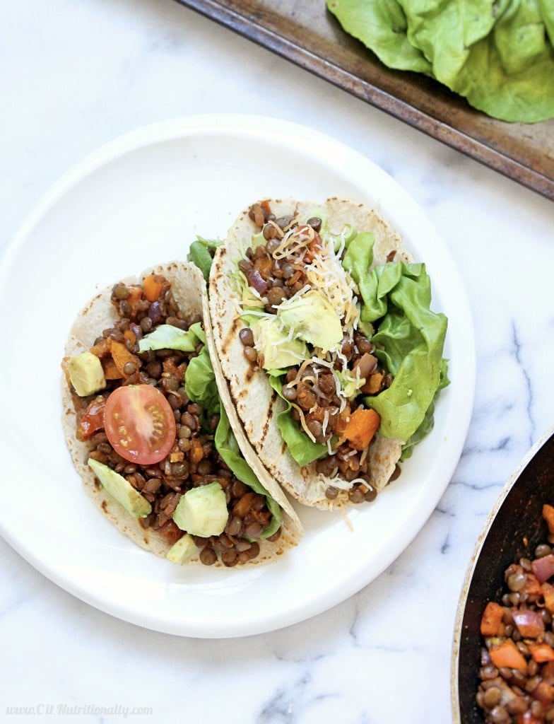 Simple Healthy Eating Plan Spicy Bolognese with Lentils Easy Lentil Tacos