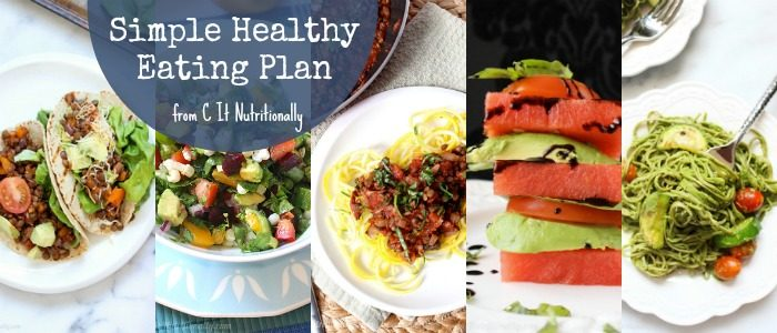 Simple Healthy Eating Plan // C It Nutritionally