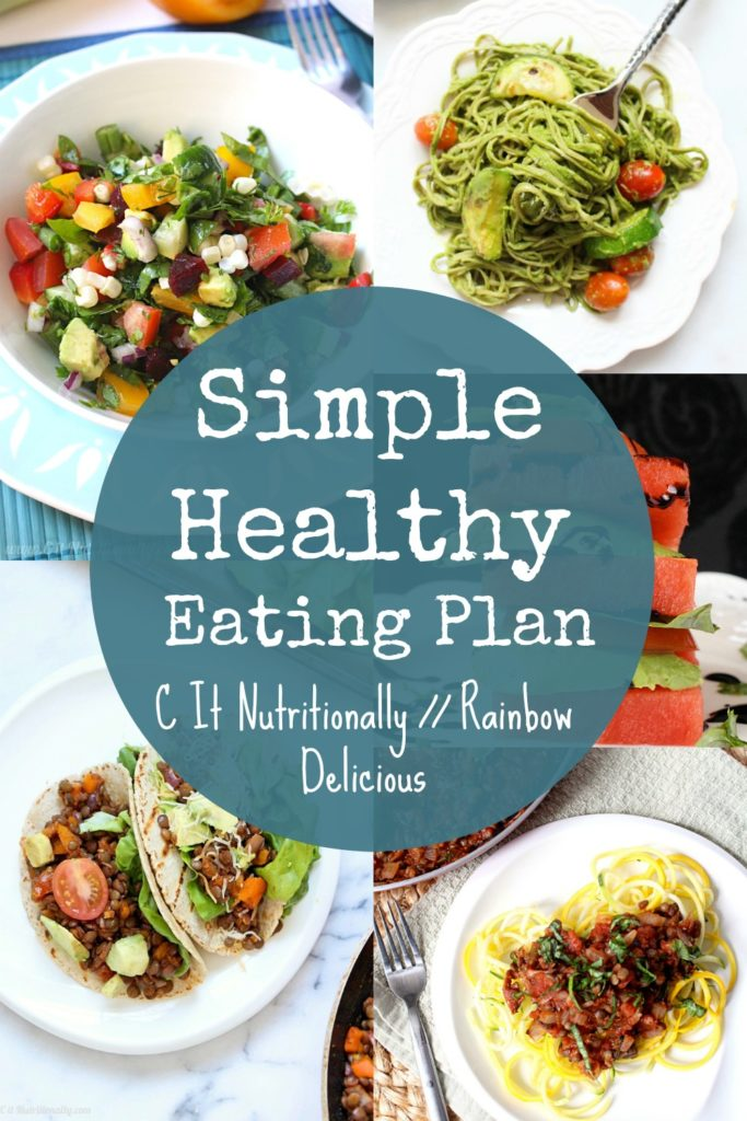 Simple Healthy Eating Plan C It Nutritionally on Rainbow Delicious