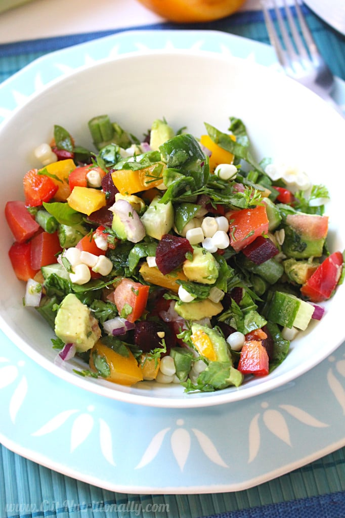Simple Healthy Eating Plan Chopped Summer Salad