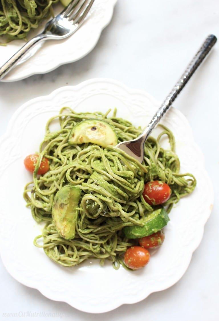 Simple Healthy Eating Plan Creamy Avocado Pasta