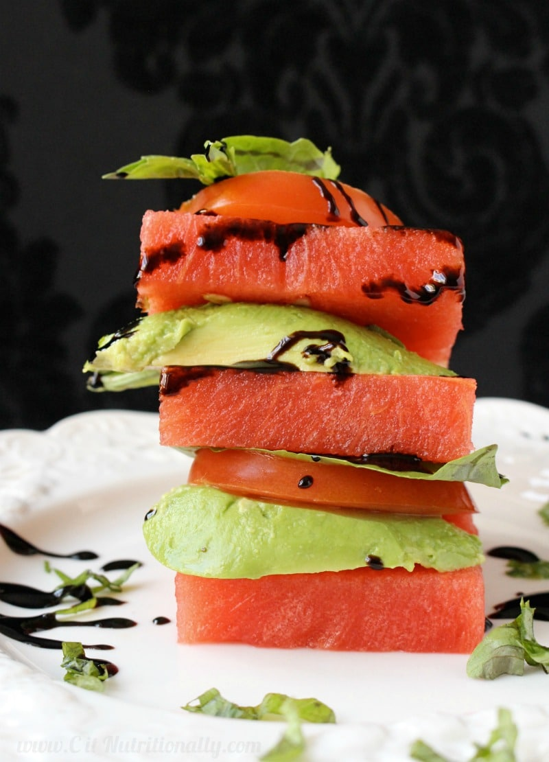 Simple Healthy Eating Plan Spicy Bolognese with Lentils Avocado Watermelon Stacks