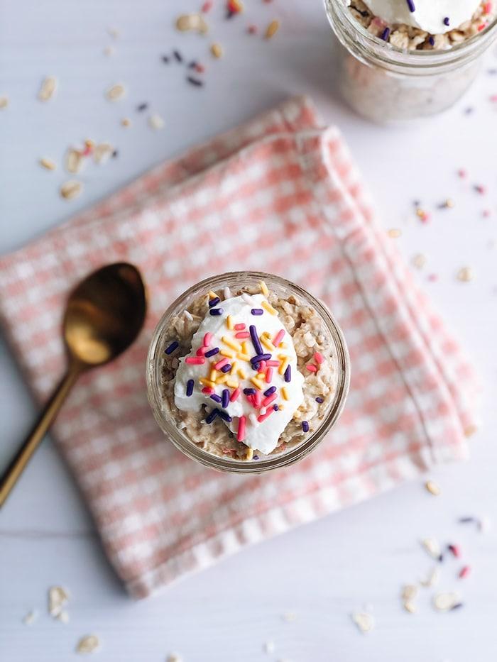 Birthday Cake Overnight Oats - Creative Oatmeal Recipes