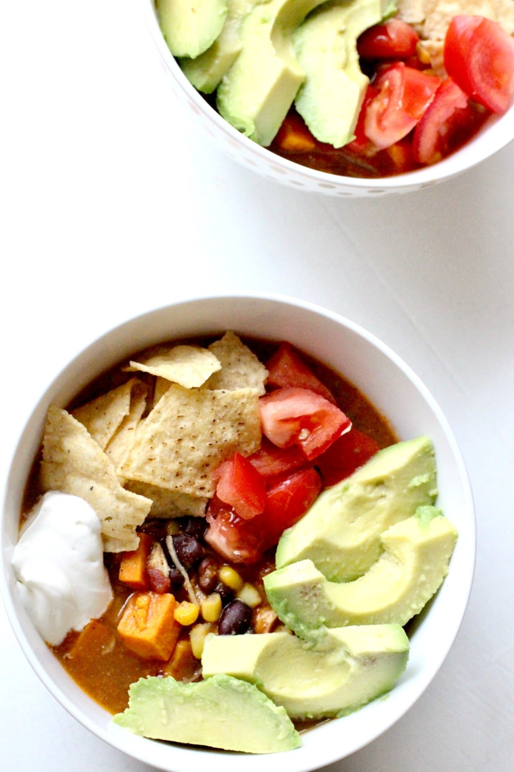 Chicken sweet potato slow cooker tortilla soup recipe for Delicious slow cooker soup recipes