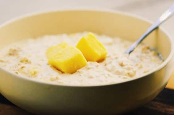 Mango lassi Overnight oats - Unique Oatmeal Recipes