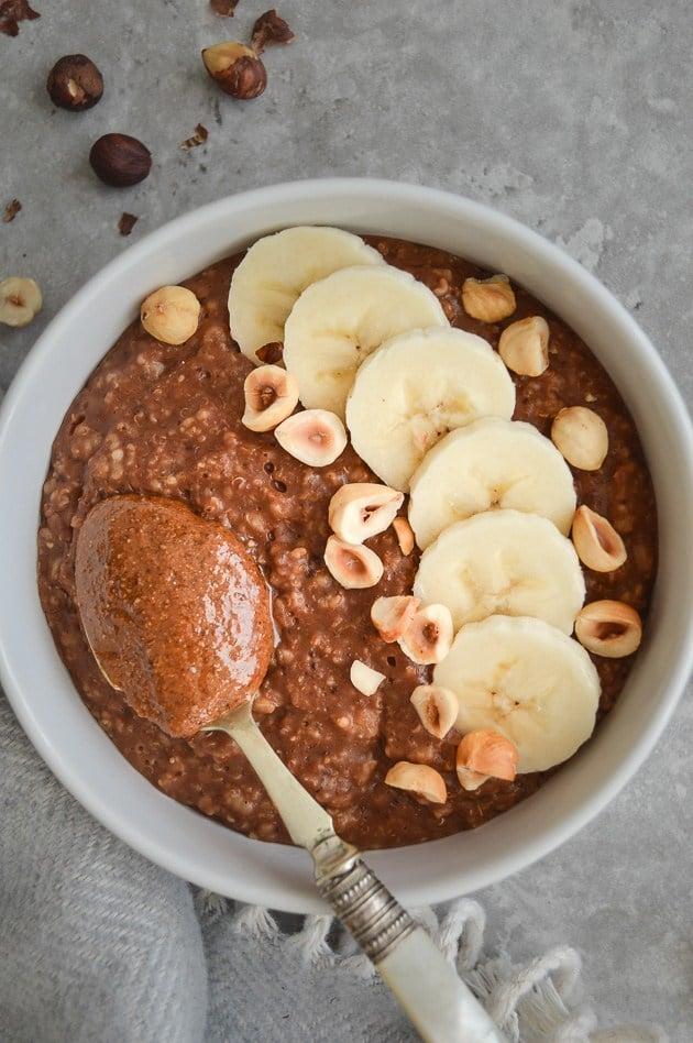 Nutella Oatmeal - Creative Oatmeal Recipes