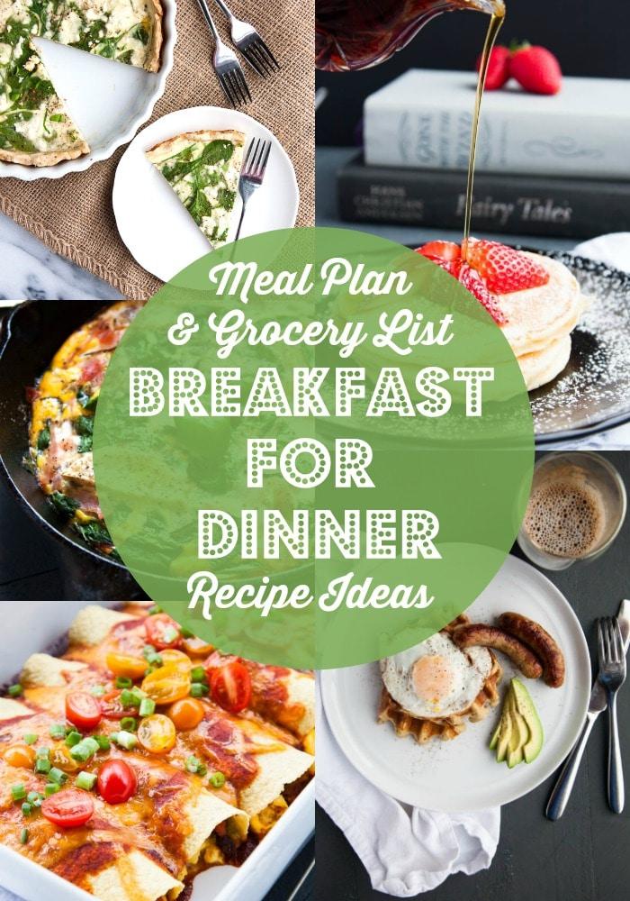 Weeknight Breakfast for Dinner Ideas