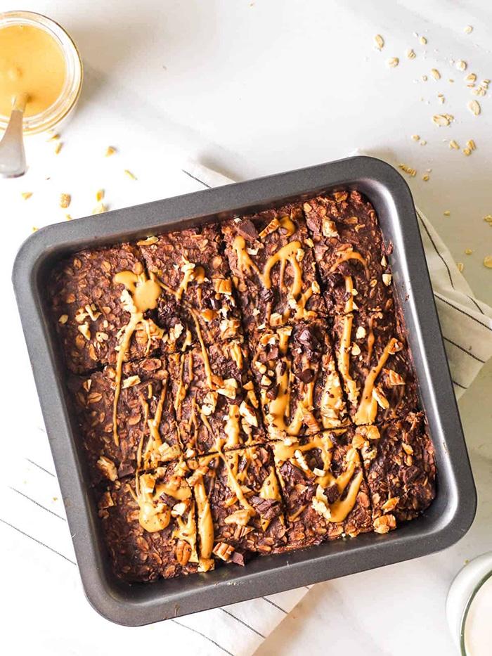 Vegan Chocolate Banana Baked Oatmeal - Unique Oatmeal Recipes