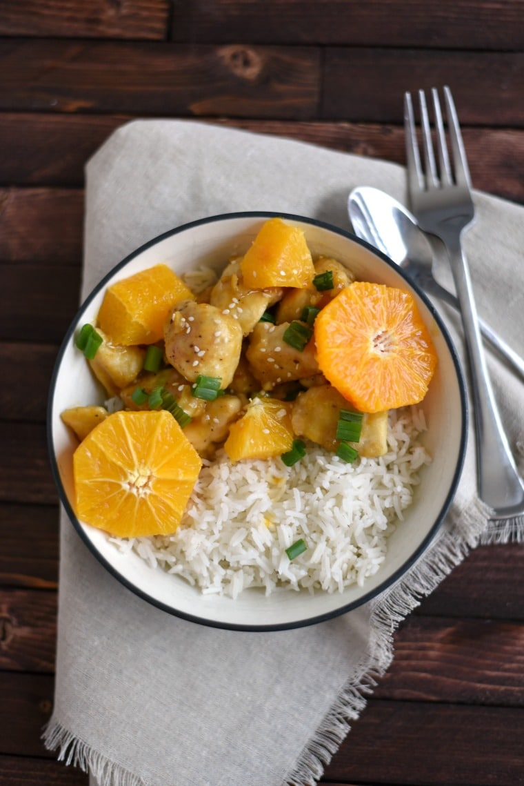 Weeknight Dinner Ideas from Gingered Whisk Gingeed whisk easy 30 minute orange chicken