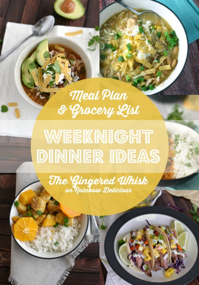 Weeknight Dinner Ideas with Gingered Whisk on Rainbow Delicious