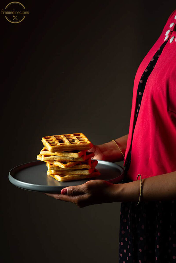 Yeasted Oats Waffles - Unique Oatmeal Recipes