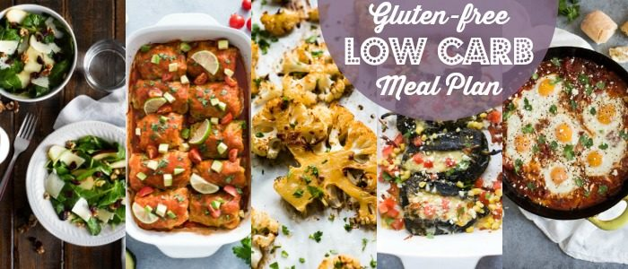 Gluten Free Low Carb Meal Plan // Isabel Eats
