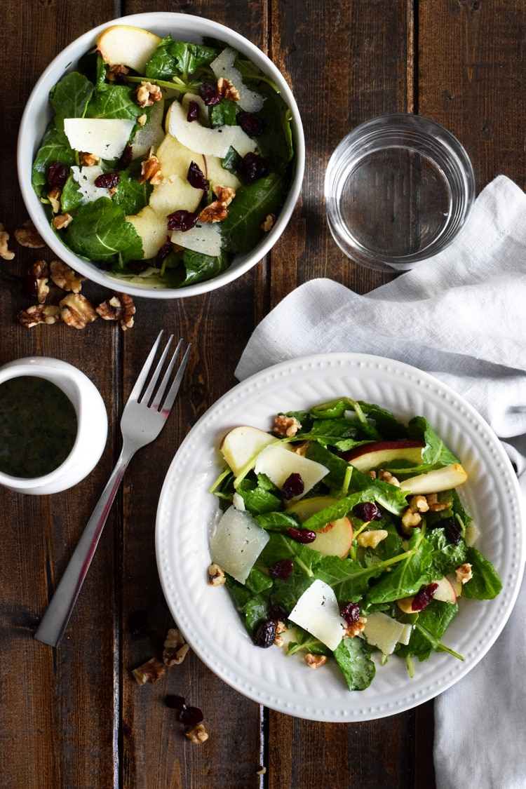 Gluten Free Low Carb Meal Plan: Apple Pear Salad with Honey Cilantro Vinaigrette