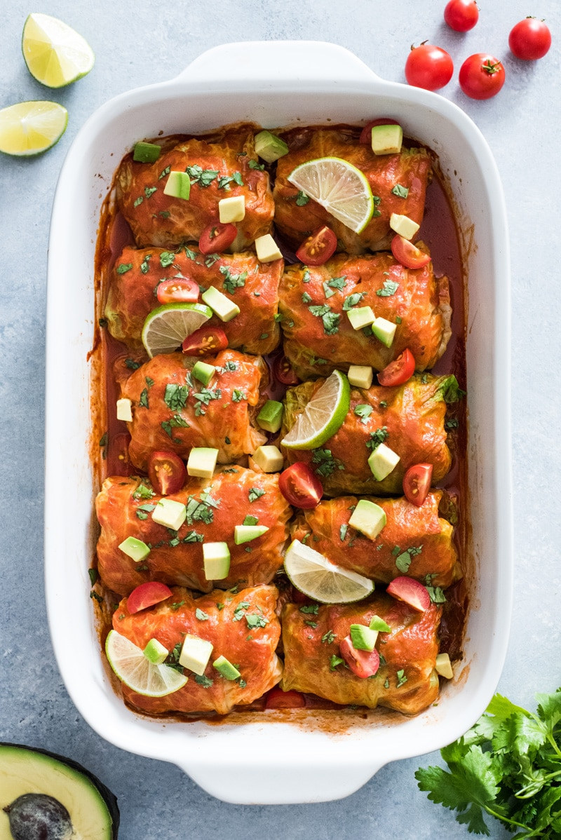 Gluten Free Low Carb Meal Plan: Low Carb Enchilada Cabbage Rolls