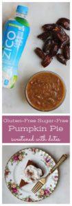 Gluten Free Sugar Free Pumpkin Pie Recipe sweetened with dates
