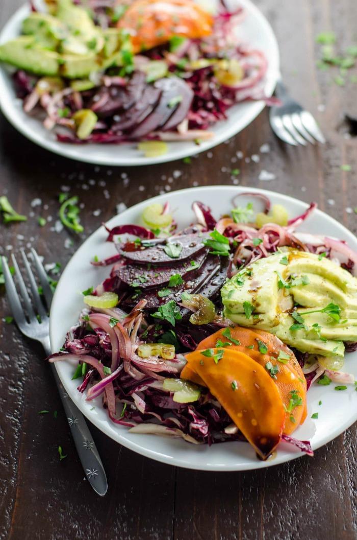 Vegetarian Salad Beet Salad Recipe with Avocado 2