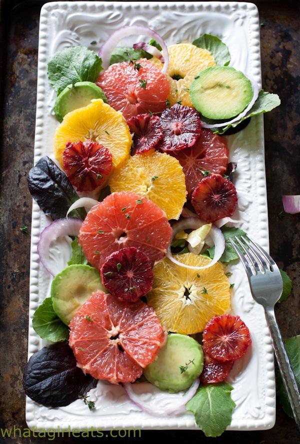 Vegetarian Salad Recipes Citrus Salad with Orange Dijon Vinaigrette