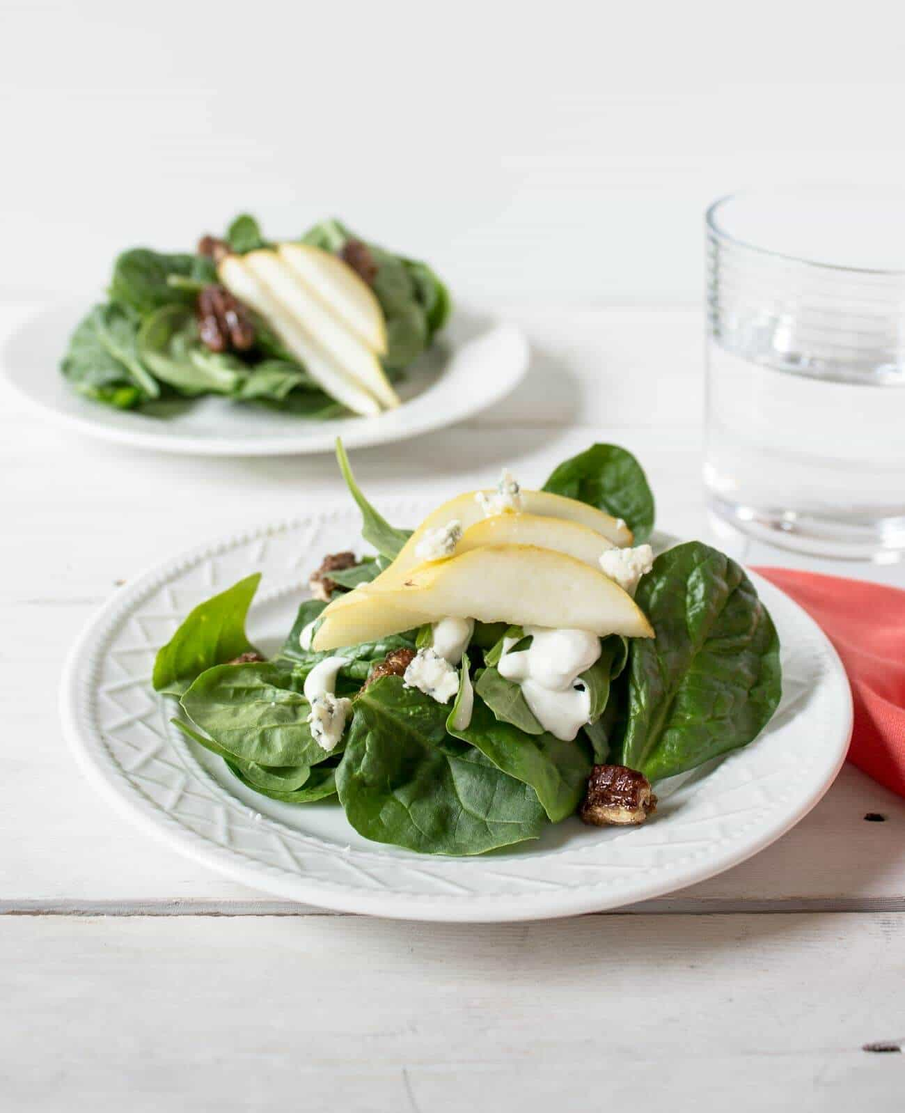 Vegetarian Salad Recipes Spinach Pear Blue Cheese Salad