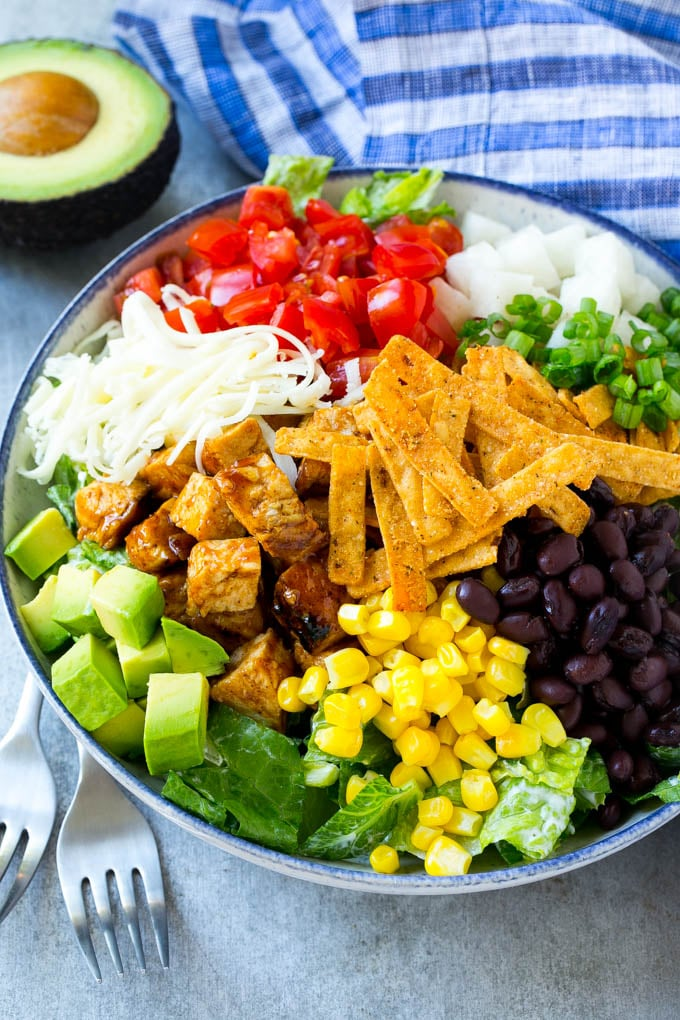 Chicken Salad Recipes Meal Plan - BBQ Chicken Salad