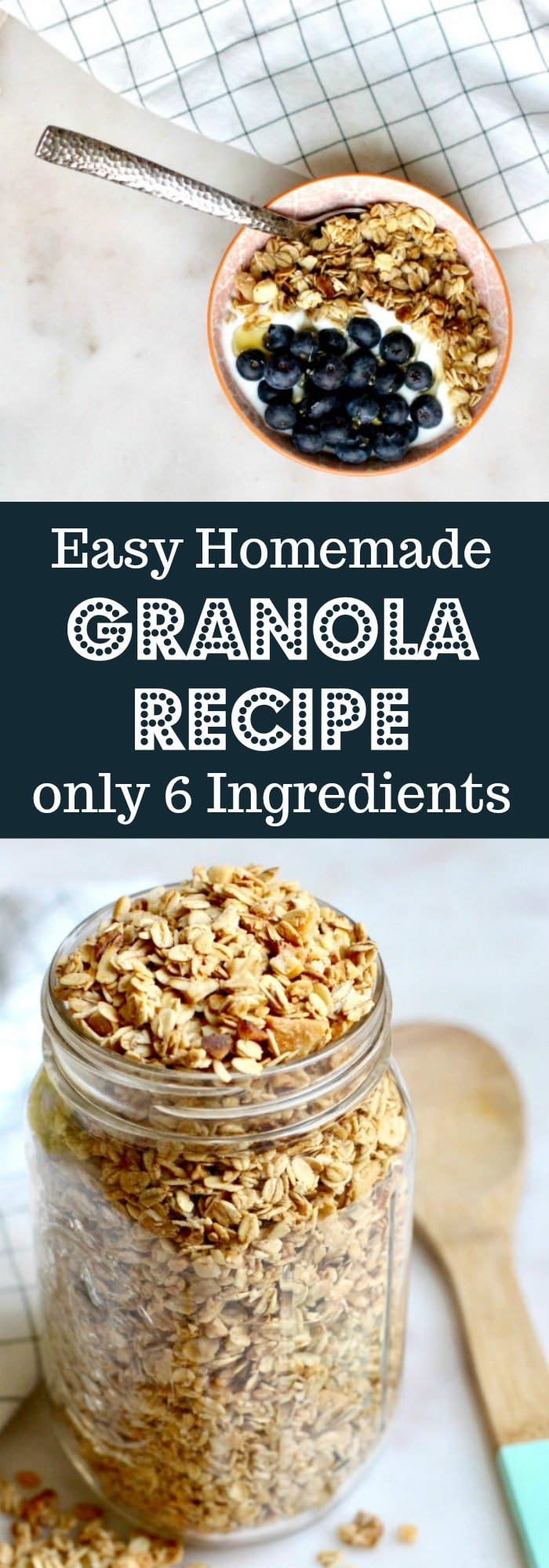 Easy Homemade Granola Recipe Only 6 Ingredients