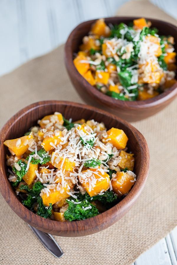 Kale Salad Recipes Roasted Butternut Squash kale Farro Salad