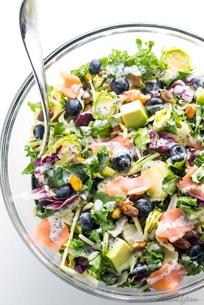 Kale Salad Recipes Salmon Kale Superfood Salad Recipe with Lemon Vinaigrette